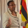 Dr Ruth Aceng advises health workers on clinical guidelines