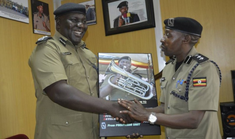 Emilian Kayima hands over office to CP Fred Enanga