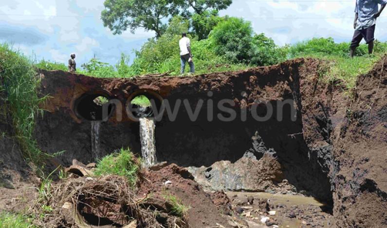 Government begins work on collapsed Cheptui bridge