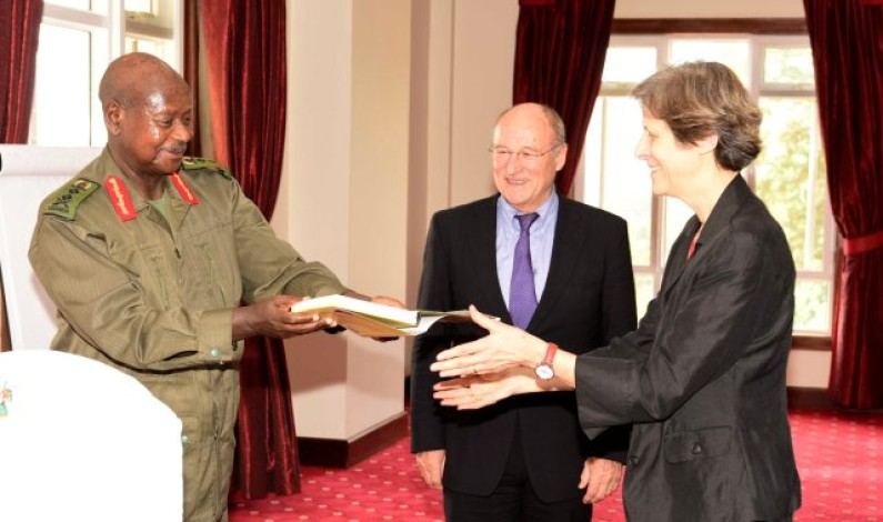Museveni meets old friend, Dr. Pierre Perrin