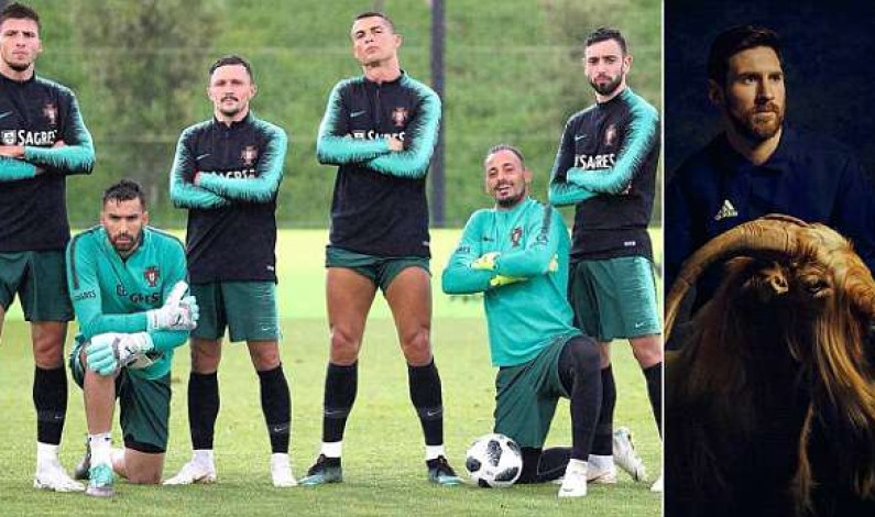 Cristiano Ronaldo already shows off his leg muscles one day into Portugal training camp