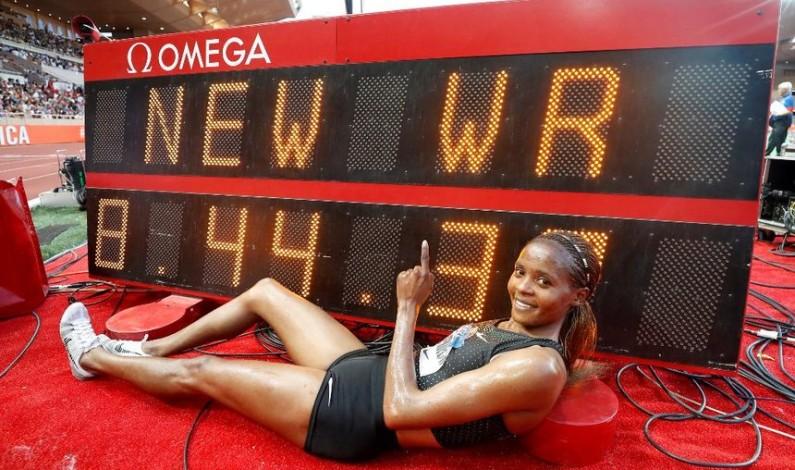 Chepkoech breaks women's steeplechase world record
