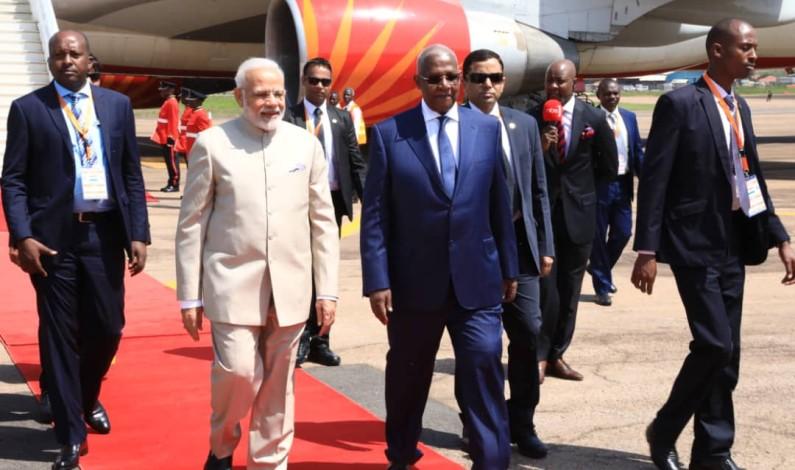 Indian Prime Minister Modi in Uganda for a Two –Days visit