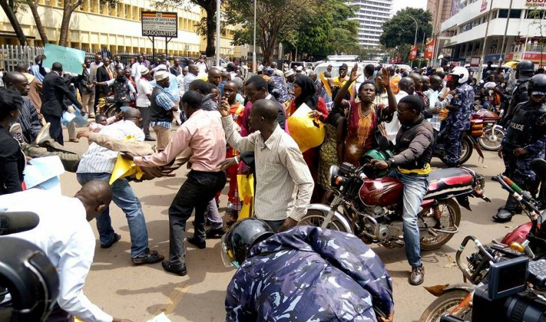 Boda boda cyclists protest causes heavy traffic jam in Kampala