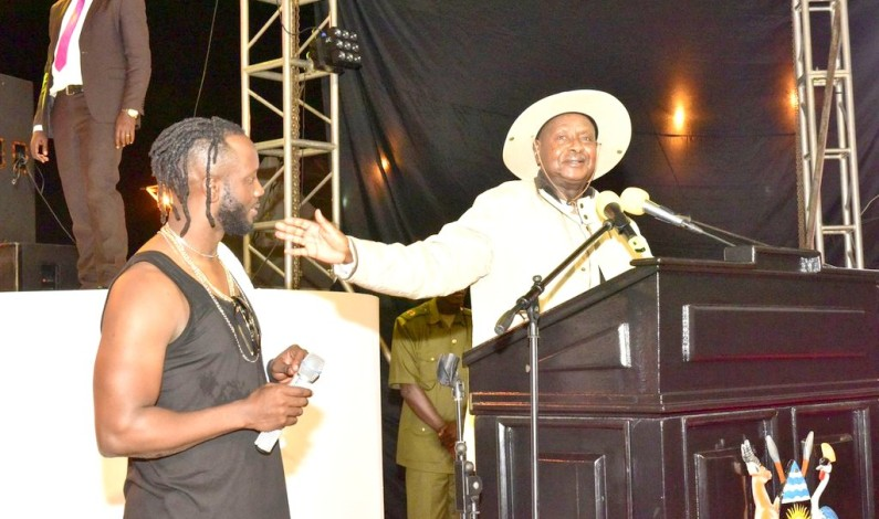 President Museveni attends Bebe Cool's Golden Heart Concert as fans claims it's Uganda's best concert ever