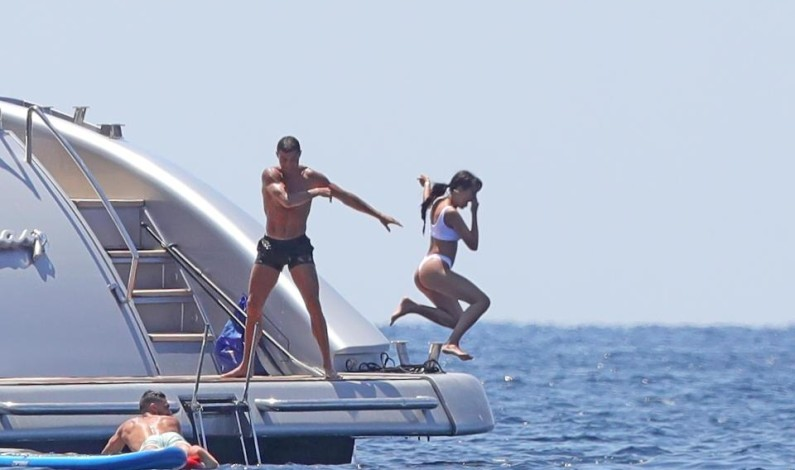 Cristiano Ronaldo throws girlfriend Georgina Rodriguez off yacht into sea