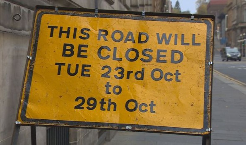 Glasgow roads closed for Hollywood movie filming