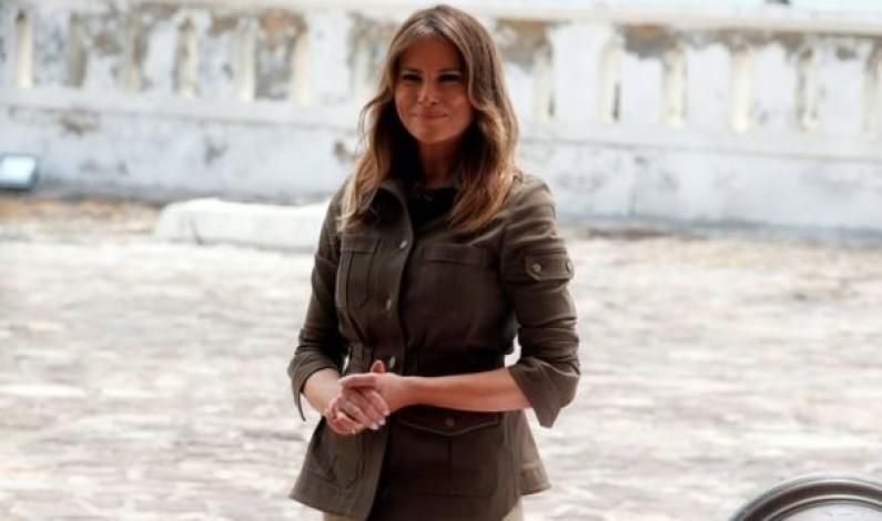 Melania Trump visits Ghana slave fort on first Africa tour