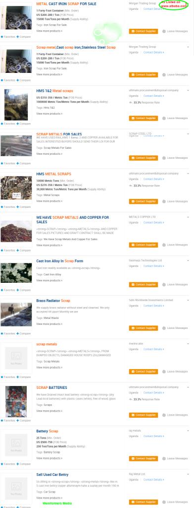 Uganda Scrap Metal Dealers  Uganda Scrap Metal Dealers Manufacturers and Suppliers on Alibaba.com