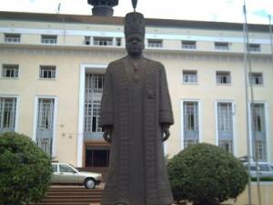 Statue of Kabaka Mutebi at Bulange Mengo, the seat of Buganda Kingdom