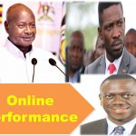 Online Performance between President Yoweri Kaguta Museveni, Honorable Robert Kyagulanyi Ssentamu and Warren Kizza Besigye Kifefe, 2021 Elections Uganda